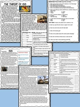 ISIS articles & reading comprehension worksheets, Terrorism, Syria