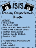 ISIS articles & reading comprehension bundle, Terrorism, Syria