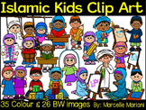 ISLAMIC KIDS CLIPART- MUSLIM KIDS CLIP ART- COMMERCIAL USE (61 IMAGES)