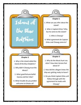 ISLAND OF THE BLUE DOLPHINS by Scott O'Dell - Discussion Cards