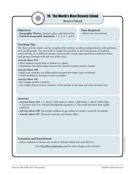 ISLANDS—Geography Worksheets and Activities
