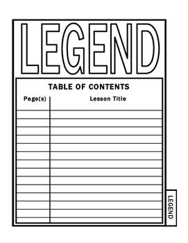 ISN Unit Title Page: Legend