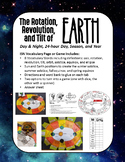 ISN Vocabulary Page/Game for the Rotation, Revolution, and Tilt of Earth