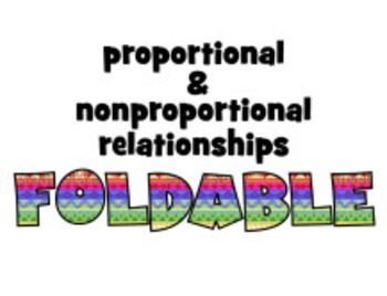 ISN foldable & PowerPoint instruct: PROPORTIONAL & NONPROPORTIONAL relationships