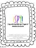 ISPY Sentence Structure Activity (simple, compound,complex)