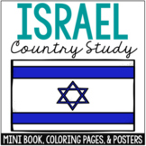 ISRAEL Country Study Mini Book, Coloring Pages, Activities, and Posters Set