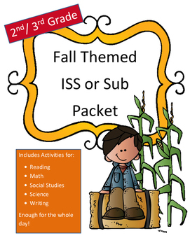 Sub Plans or ISS Work Packet Fall Themed (NO PREP) Full Da