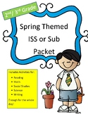 ISS or Sub Work Packet Spring Themed (No Prep) 2nd/3rd grade All Day