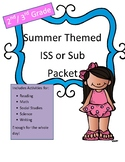 ISS or Sub Work Packet: Summer Themed (2nd/ 3rd grade) All Day