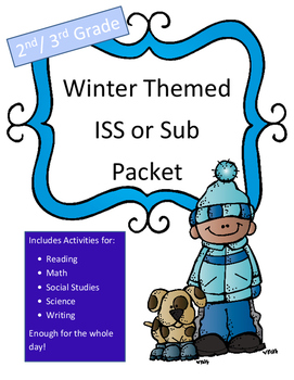 ISS or Sub Work Packet Winter Themed (NO PREP) Full Day of