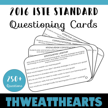 Technology Bloom's Taxonomy Questioning Cards