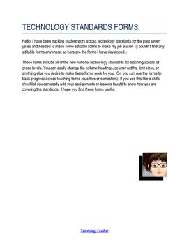 ISTE NETS Checklist Forms: Grades K - 12 (Revised)