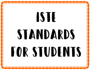 ISTE 2016 Student Standards Posters
