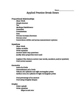 ISTEP Applied Break Down 7th grade