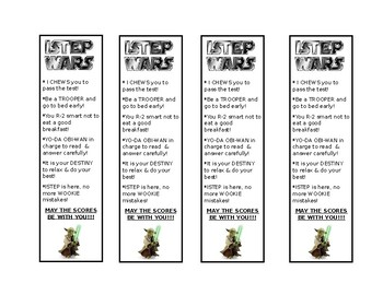 ISTEP Bookmarks: Star Wars Addition