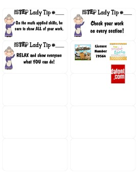 ISTEP Lady Tips
