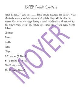 ISTEP Reward