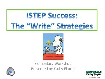 "ISTEP SUCCESS:  The ""Write"" Strategies"