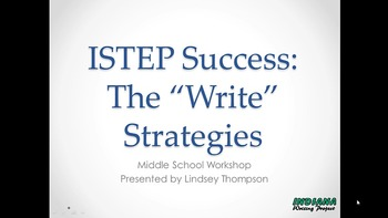 """ISTEP Success:  The """"Write"""" Strategies for Middle School"""