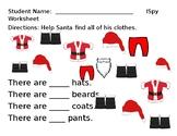 ISpy Santa Clothes Worksheet