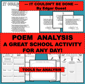 BTS BACK TO SCHOOL AND MORE IT COULDN'T BE DONE Poem Poetry Study