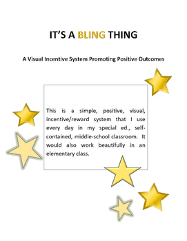 IT'S A BLING THING -a positive/incentive reward program