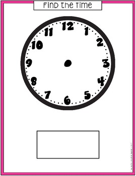 FIND THE TIME TIME: Dry Erase Center