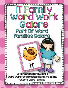 IT Word Family Word Work Galore-Differentiated and Aligned.