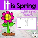 FREE IT is Spring interactive Sight Word Reader- Distance