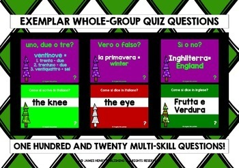 ITALIAN CHRISTMAS EDITION GAMES & QUIZZES