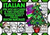 ITALIAN VOCABULARY CHRISTMAS GAMES CARDS & QUIZZES