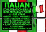 ITALIAN CONJUGATION DRILLS -ARE & HIGH-FREQUENCY VERBS BUNDLE