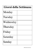 ITALIAN - Days of the Week