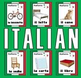 ITALIAN / ENGLISH LANGUAGE FLASHCARDS - DISPLAY ESL KS 1-4