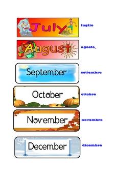 ITALIAN - I mesi dell'anno