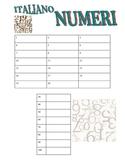ITALIAN - I numeri (Numbers with key)
