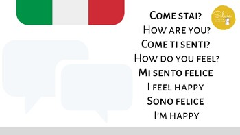 ITALIAN LANGUAGE // FEELINGS - CHILDREN/BEGINNERS