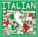 ITALIAN LANGUAGE RESOURCES -DISPLAY FLASHCARDS POSTERS WORKSHEET GAMES