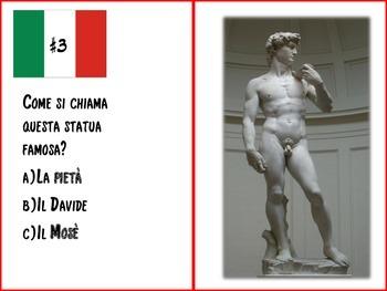 Italian Task Cards: L'Arte Italiana