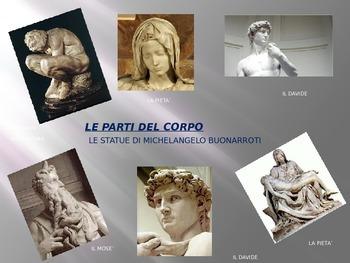 ITALIAN : Le Parti del Corpo e le statue di Michelangelo