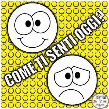 ITALIAN: Le Emozioni Emoji Coloring