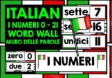 ITALIAN NUMBERS 0-21 WORD WALL