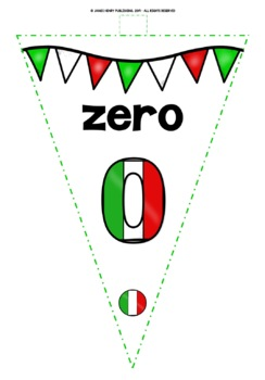 ITALIAN NUMBERS 0-31 BANNERS/BUNTING