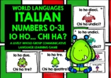 ITALIAN NUMBERS 0-31 GAME - I HAVE, WHO HAS?
