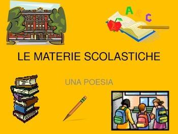 ITALIAN POEM: LE MATERIE SCOLASTICHE