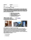 ITALIAN: Read to Write Task La Casa  Level II