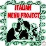 ITALIAN MENU PROJECT