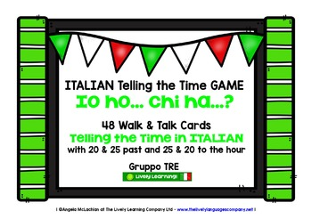 ITALIAN TELLING THE TIME GAME (3) - I HAVE, WHO HAS?