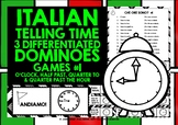 ITALIAN TELLING TIME DOMINOES #1