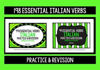 ITALIAN VERBS PRACTICE & REVISION 198 VERBS (1&2)